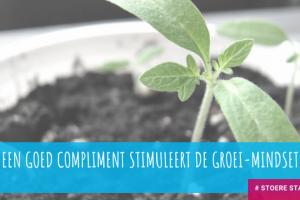 Een goed compliment stimuleert de groei mindset